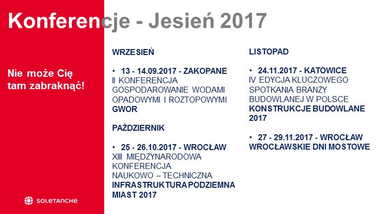 Kalendarz konferencji - Jesień 2017