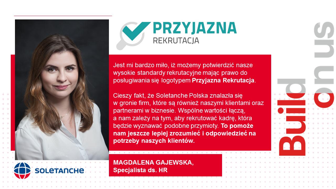 Przyjazna rekrutacja w Soletanche Polska